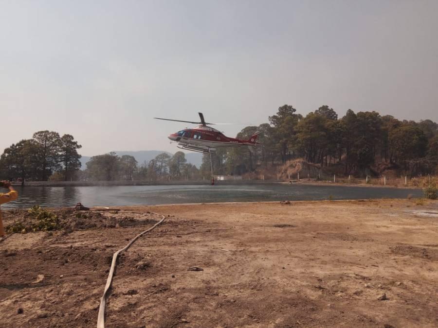 Brigadistas y Grupo Relámpagos combaten incendios en municipios de Edomex