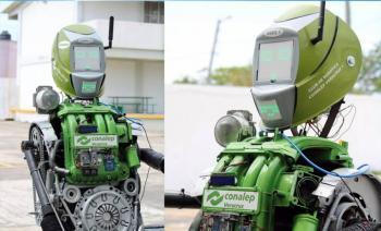 Crean alumnos del Conalep robot que facilita protocolos sanitarios para el regreso a las aulas