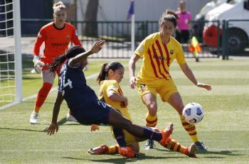 PSG iguala con Barcelona en la ida de semifinales de Champions Legue femenil