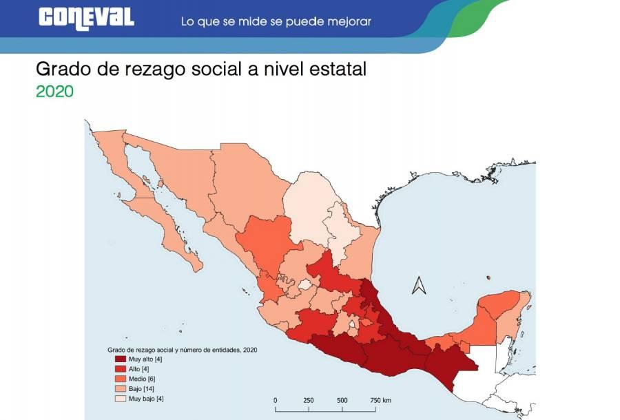 Reporta Coneval el índice de rezago social 2020