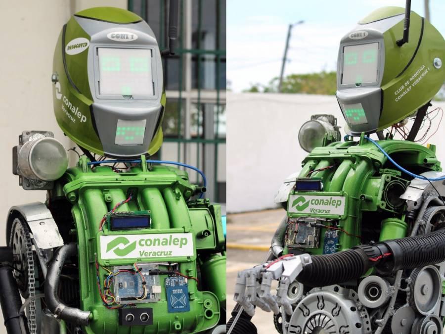 Estudiantes del Conalep crean robot que facilita protocolos sanitarios en las aulas
