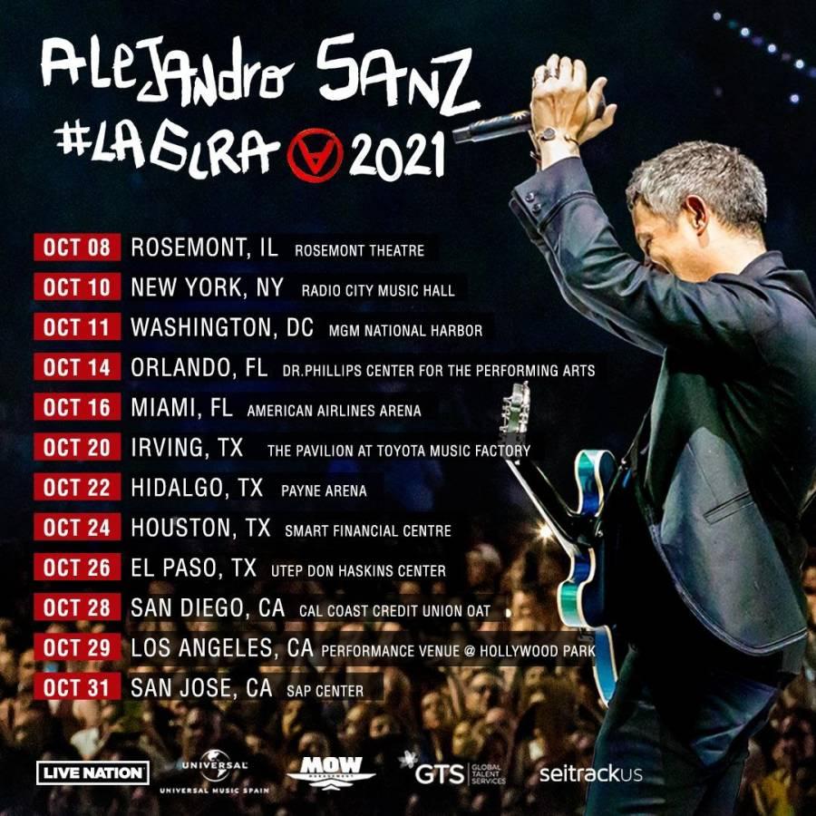 Alejandro Sanz confirma gira por 12 ciudades de Estados Unidos