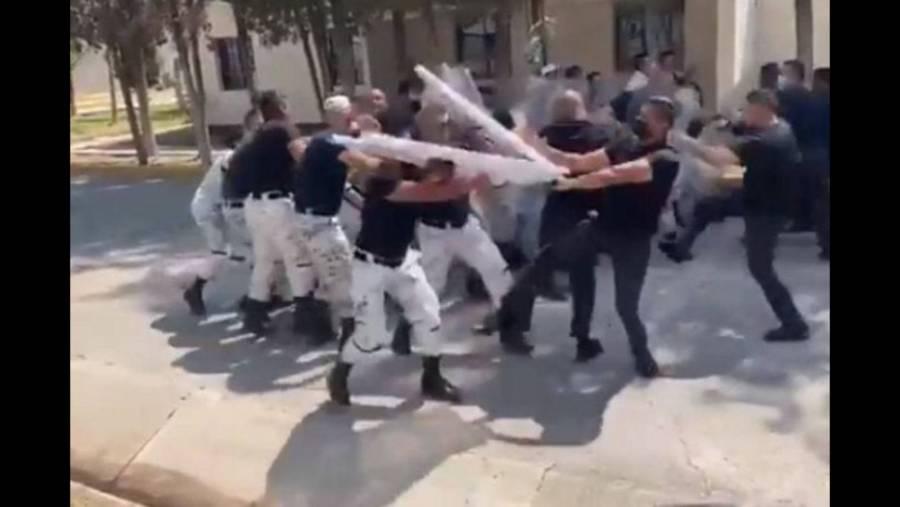 Elementos de la Guardia Nacional se pelean entre sí en San Luis Potosí