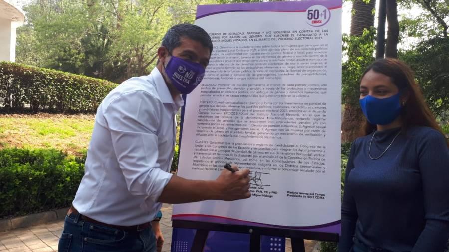 Vamos por una Alcaldía libre de violencia contra las mujeres: Mauricio Tabe