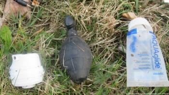 Confunden juguete sexual con una granada de mano