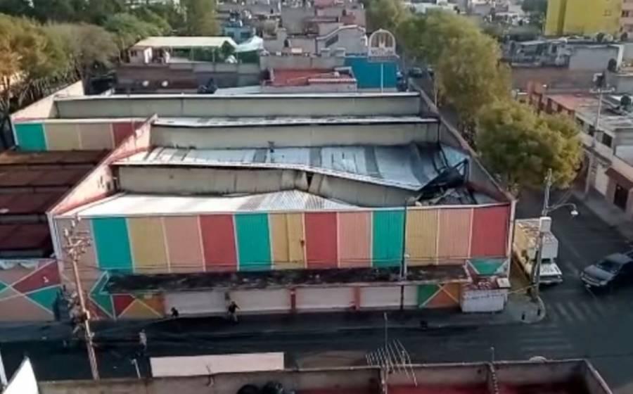Granizada en CDMX tiró techo de mercado La Moderna