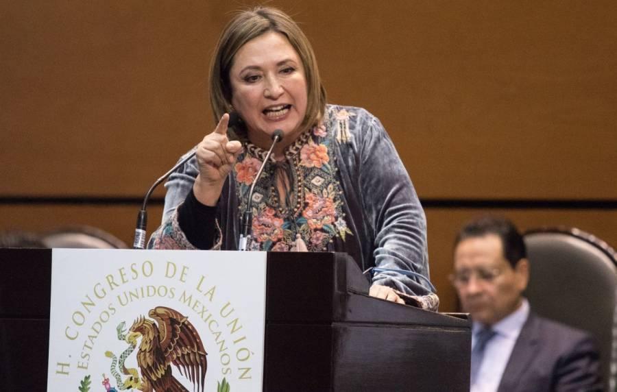 Xóchitl Gálvez se suma a bancada del PRD en el Senado