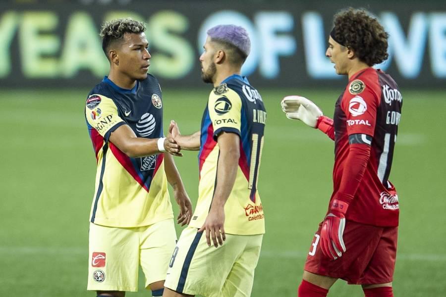 América y Monterrey logran empates en cuartos de final de la Conchachampions