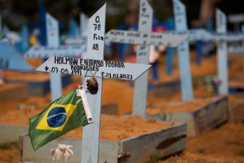 Más de 400 mil muertes por Covid-19 en Brasil
