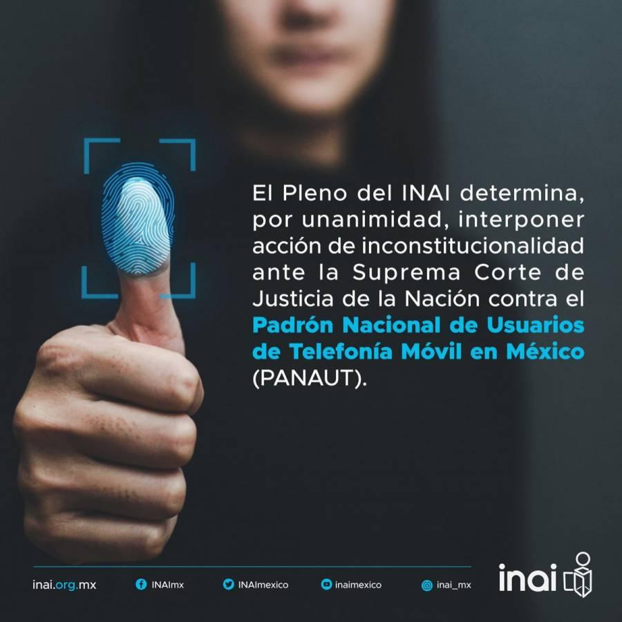 Falso que la decisión de impugnar reforma a LFTyR obedezca a intereses de telefónicas: INAI