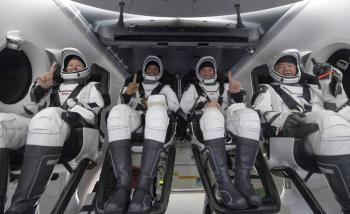 Nave de SpaceX con cuatro astronautas de la ISS, regresa a la Tierra
