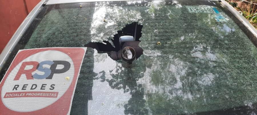 Atacan auto de candidata de RSP en Acayucan