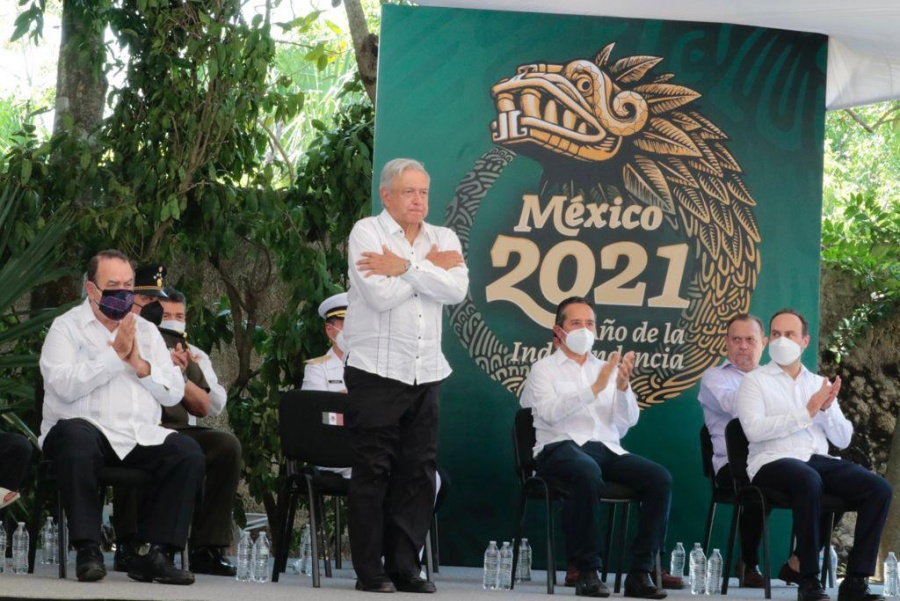 AMLO pide perdón a pueblos mayas por abusos
