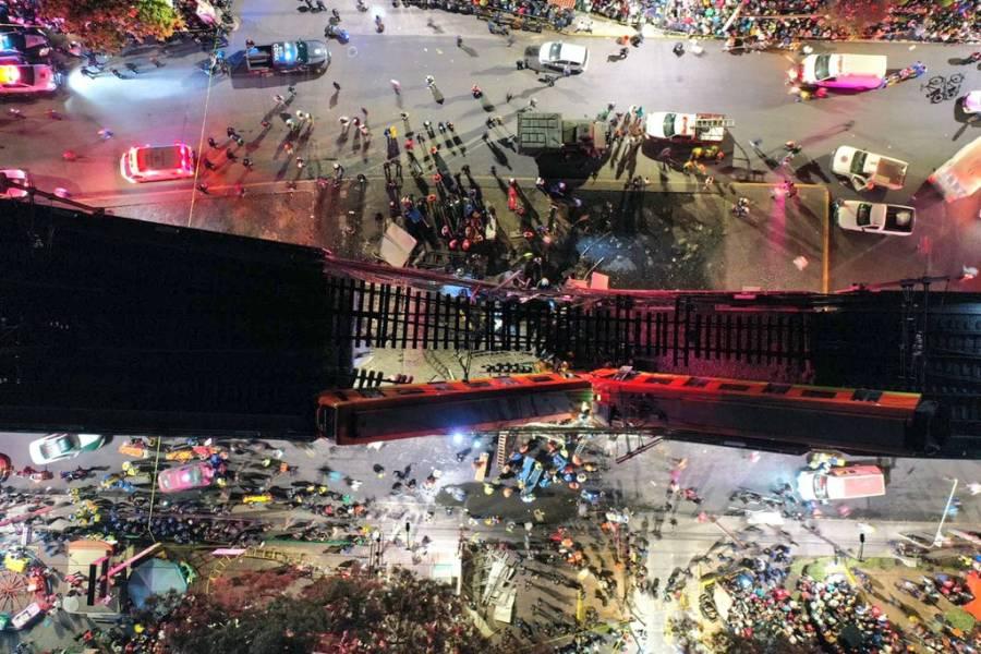 Hay al menos 50 lesionados por colapso en Línea 12 del Metro