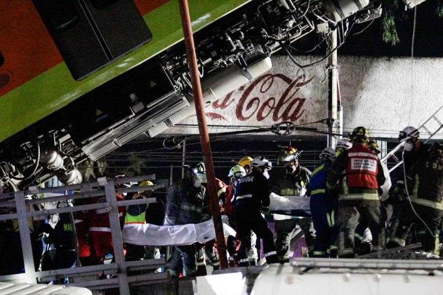 Suman 23 decesos y 79 personas hospitalizadas tras colapso en Línea 12 del Metro