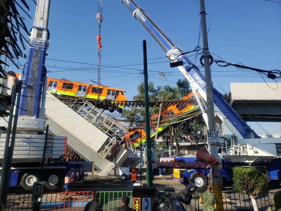 Inician peritajes por colapso en Línea 12 del Metro