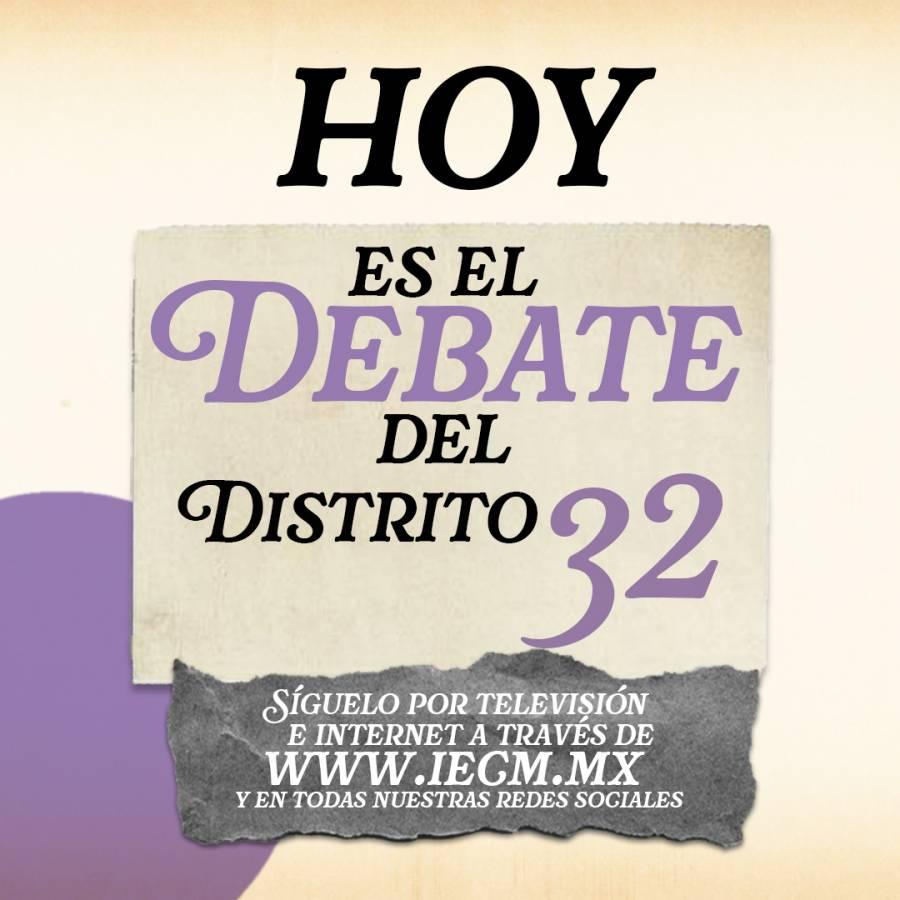 En vivo: Debate entre aspirantes a la diputación en el Distrito 32 de la CDMX