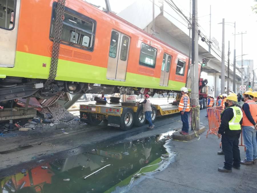 Retiran primer vagón del Metro colapsado en la Línea 12