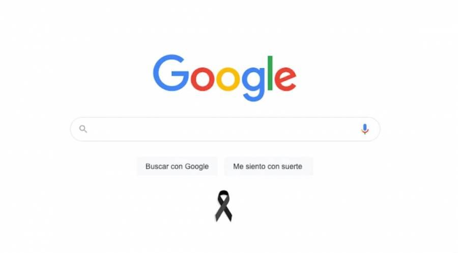 Con moño negro, Google se une al luto por las víctimas de la Línea 12
