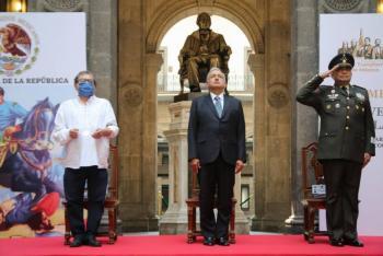 Encabeza AMLO ceremonia de Batalla de Puebla