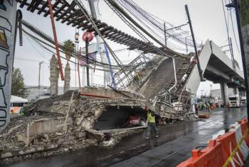 Inicia remoción de escombros, tras derrumbe de Línea 12