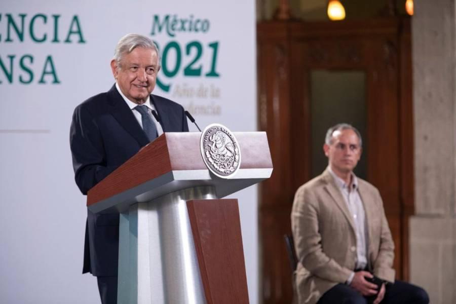 Ayer fue récord de vacunación, a 600 mil mexicanos: AMLO