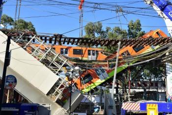 Difunden nuevo video del colapso en la Línea 12 del Metro