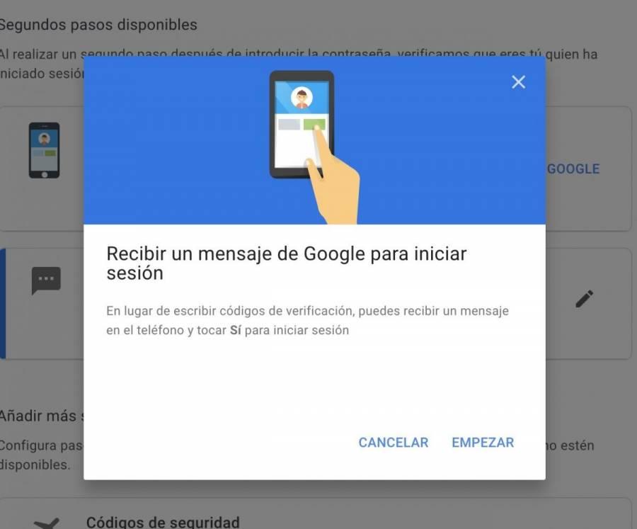 Cuentas de Google tendrán la verificación en dos pasos
