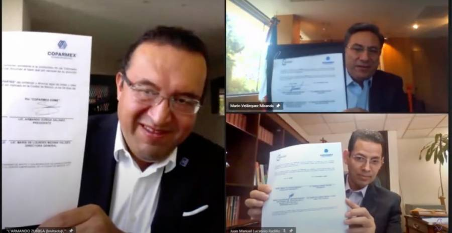 IECM y COPARMEX firman convenio de Colaboración en el marco del Proceso Electoral Local 2020-2021