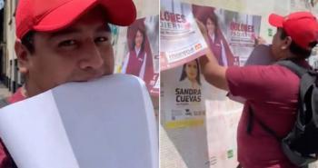 Laisha Wilkins denuncia agresión de brigadista de Morena en CDMX