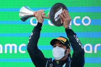 "Lewis Hamilton gana el GP de España de Fórmula 1; ""Checo"" Pérez termina quinto"