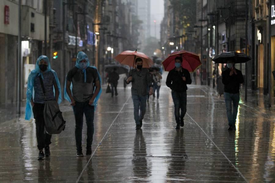 Activan Alerta Amarilla por lluvias fuertes en siete alcaldías de la CDMX