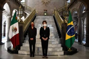 Sheinbaum recibe a expresidenta de Brasil, Dilma Rousseff