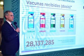 Mañana se vacuna López-Gatell contra la Covid-19