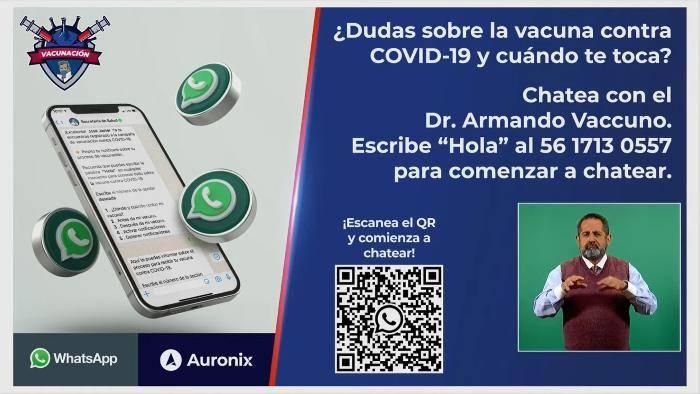 Presenta SSa al Dr. Armando Vaccuno; chat para resolver dudas sobre vacunas anticoronavirus