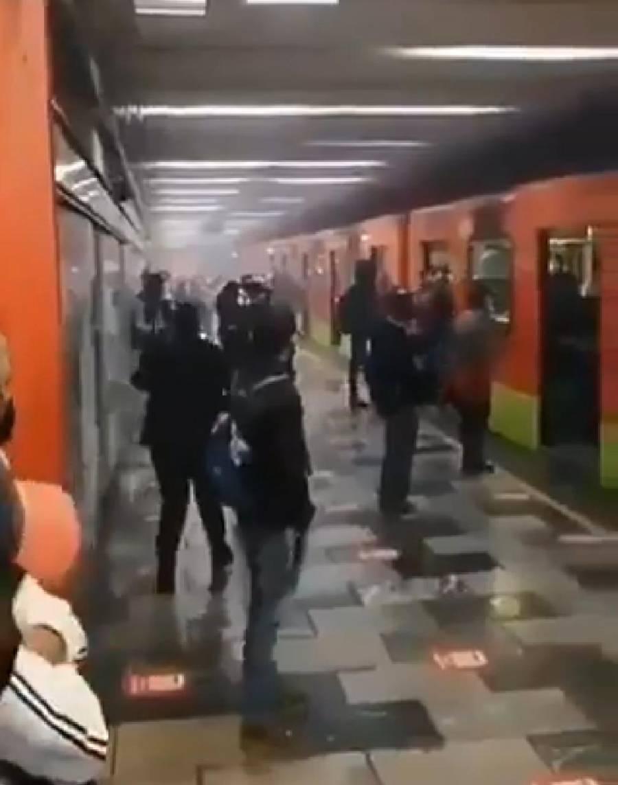 Se registra cortocircuito en vías de la estación Tlatelolco