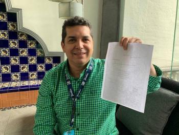Víctor Hugo Arteaga, primer candidato en registrarse para debate a diputados locales