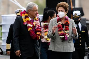AMLO y Dilma Roussef ante el legado de Tenochtitlan