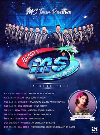 Natalia Jiménez realizará gira junto a Banda MS