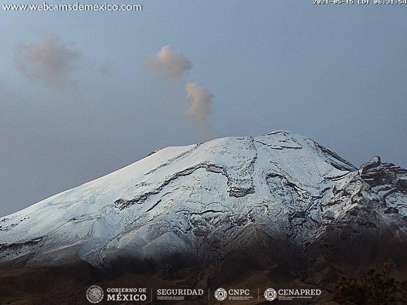 La postal del día: Popocatépetl amanece nevado este sábado