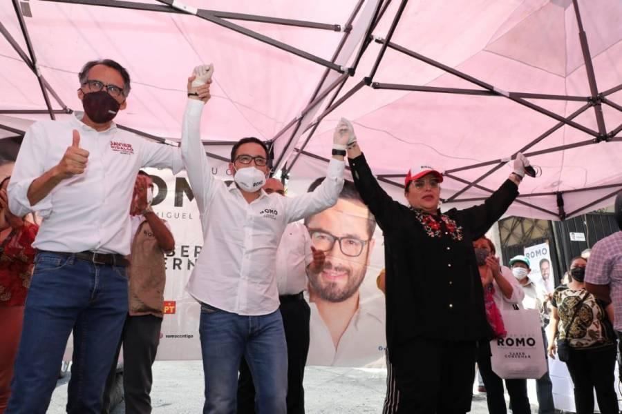 Candidata del partido ELIGE, se suma a la campaña de Víctor Hugo Romo