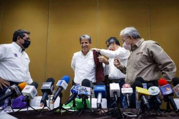 Declina candidato del PVEM a gubernatura de Sinaloa; se suma a Morena
