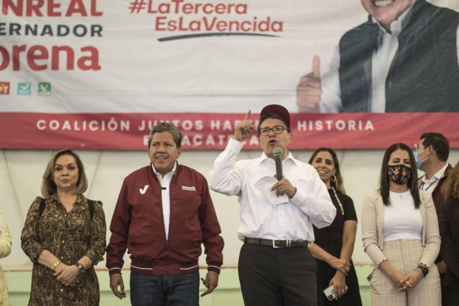 Zacatecas está en quiebra, alerta Ricardo Monreal