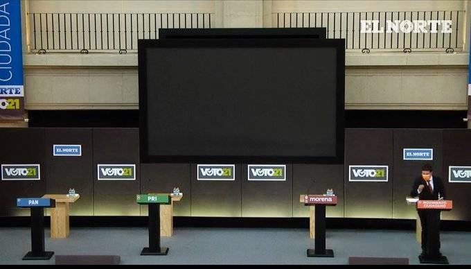 ¡Es real! En Nuevo León, Samuel García debate solo; los demás candidatos no se presentan