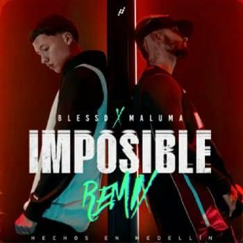 """Comprueba Blessd que nada es """"Imposible"""" y graba el remix de su canción al lado de Maluma"""