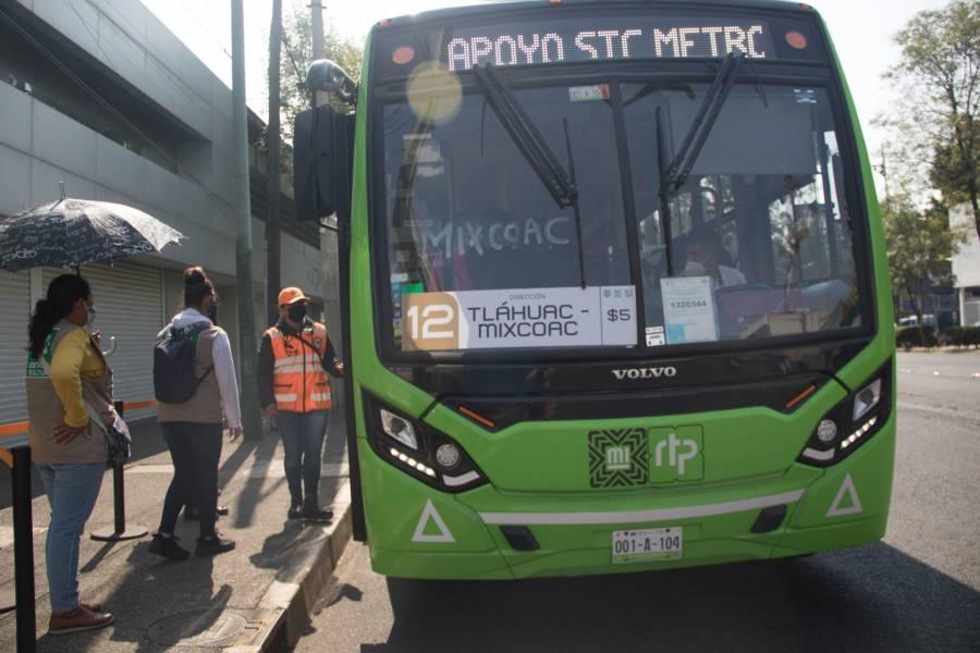 CDMX prepara operación emergente de Metrobús para apoyar la movilidad de usuarios de la Línea 12