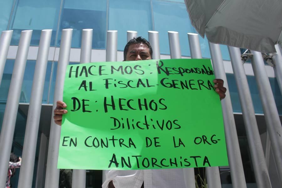 Violencia de Antorcha, causal de nulidad de las elecciones, advierte Barbosa