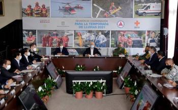 Gobierno del Estado de México, se alista para afrontar temporada de lluvias
