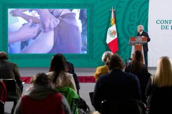En octubre esperan terminar con vacunación en México, informa AMLO