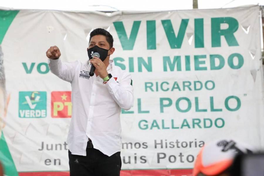 El cambio está cerca asegura Gallardo a San Luis Potosí